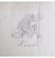 vintage a koala bear on old wrinkled paper vector image vector image