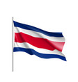 waving flag of costa rica vector image