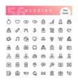 wedding line icons set vector image vector image