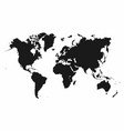 world map monochrome map icon vector image vector image