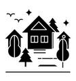 urban park icon sign o vector image