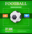 football or soccer banner with text design vector image