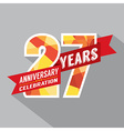 27th Years Anniversary Celebration Design vector image vector image