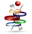 3d symbol creative design vector image vector image