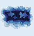 a beautiful fish in a jamb vector image vector image
