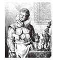 abraham grapheus standing in this picture vintage vector image vector image