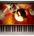 abstract grunge red background with piano and vector image vector image