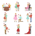 Adult Couples On A Date vector image vector image