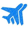 Airlines Grainy Texture Icon vector image