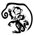 An of a stylised monkey vector image vector image