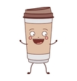 animated glass disposable for hot drinks vector image vector image