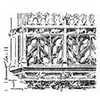 balustrade flamboyant balustrade vintage engraving vector image vector image
