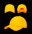 baseball cap on dark vector image