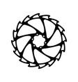 bicycle bike wheel asterisk vector image vector image