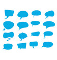 blue speech flat bubbles vector image