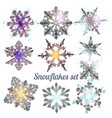 collection of filigree snowflakes for christmas vector image vector image