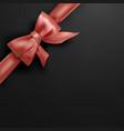 corner bow on black background vector image