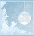 cristmass card vector image vector image