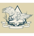 Eagle tattoo art design vector image vector image
