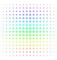 eco man icon halftone spectrum grid vector image vector image