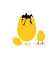 Egg and chick vector image