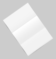 Empty paper sheet with shadows isolated on gray vector image vector image