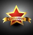 exclusive icon vector image vector image
