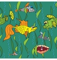Fish in the sea Seamless texture vector image vector image