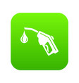 gas pistol icon green vector image vector image