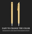 Gold pen marker corporate identity promotional