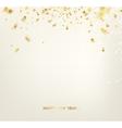Golden confetti vector image vector image