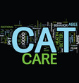 good cat care means a happy cat text background vector image vector image