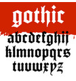 gothic font 001 vector image vector image