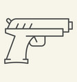 handgun thin line icon pistol vector image