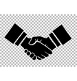 handshake isolated on checkered vector image vector image