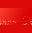 happy mothers day line lettering with paper heart vector image