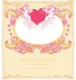 happy valentines day card with cupids vector image vector image