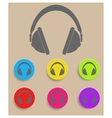 Headphones icon vector image vector image
