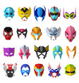 hero mask superhero masque and masking face vector image