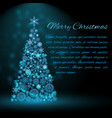 holiday christmas tree background vector image vector image