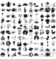 Icons for the gastronomy vector image vector image