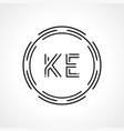 initial letter ke logo design template digital vector image vector image