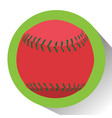 isolated baseball ball vector image vector image