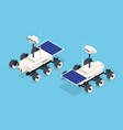 isometric rover moon or mars rover robotic space vector image