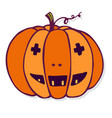 jack o lantern pumpkin halloween vector image