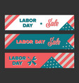 labor day sale banners vector image vector image