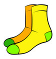 men socks icon cartoon vector image