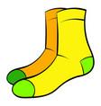men socks icon cartoon vector image vector image