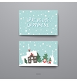 Merry Christmas Set Of Card Templates vector image vector image
