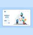 mobile apps concept with smartphone screen vector image